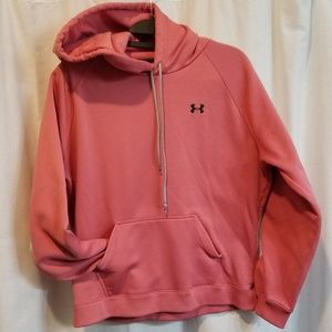 Rosy pink under armour kangaroo pocket hoodie